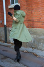 Black-sheer-thrift-store-dress-olive-green-army-h-m-jacket