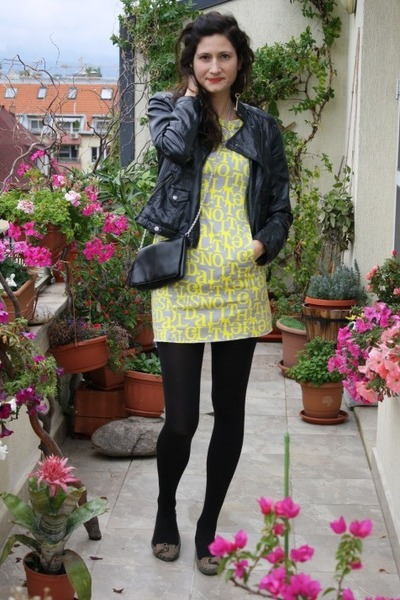 Bershka jacket - H&M dress - H&M bag - Bershka loafers