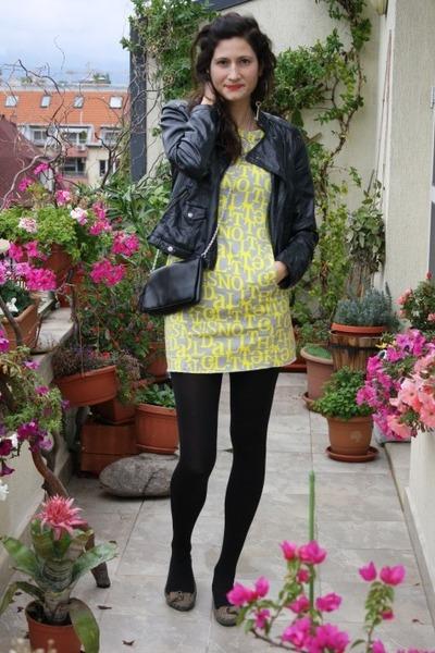 Bershka jacket - H&M dress - H&M bag - Bershka loafers