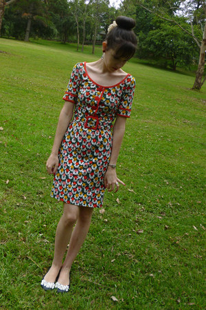 green floral dress Leona Edmiston dress - red floral dress Leona Edmiston dress