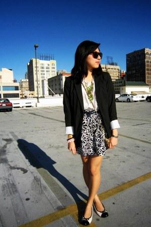 Target blazer - foreign exchange top - Forever 21 skirt - Forever 21 belt - life