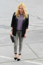 vintage top - choiescom shoes - H&M jeans - New Yorker blazer