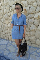jeans H&M dress - asos bag - asos sandals