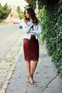 Zara-shoes-new-yorker-jacket-sheinside-top-new-yorker-skirt