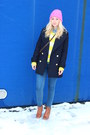 Zara-coat-new-yorker-sweater-denim-zara-shirt-beanie-h-m-accessories