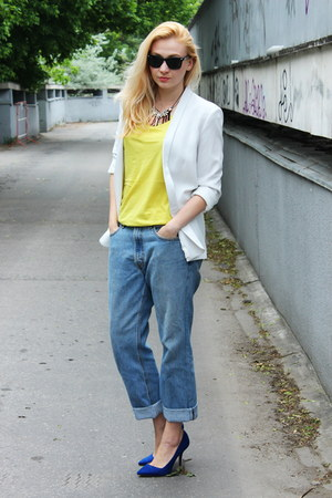 Zara shoes - Levis vintage jeans - Mango blazer - Zara top