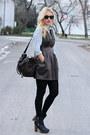 Newlookcom-boots-forever21-dress-h-m-shirt-asos-bag