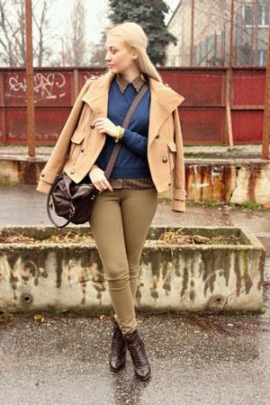 vintage shirt - Dorothy Perkins boots - H&M jeans - Zara jacket - asos bag