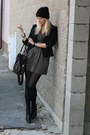 Newlook-boots-forever21-dress-terranova-blazer-asos-bag