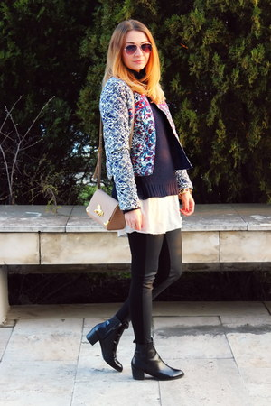 Sheinsidecom jacket - slip on asos shoes - H&M sweater