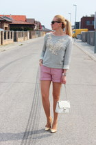 Promod sweatshirt - Mango shoes - second hand shorts - Oasapcom bracelet