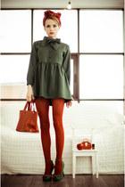 army green Sheinside dress