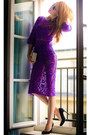Purple-Будуар-dress-black-love-republic-top