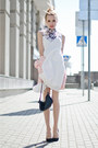 White-persunmall-dress-light-pink-motivi-jacket