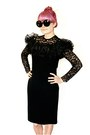 Black-vintage-dress-black-vintage-sunglasses