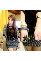 black polka dots DIY Bodycon Skirt skirt