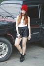 Faux-leather-ripples-shorts-suede-people-are-people-sneakers