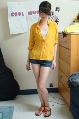 yellow michellelaura top - beige Abercrombie top