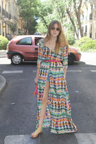 Zara dress - Mango sunglasses - Parfois sandals
