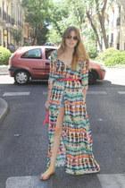 Zara dress - Mango sunglasses - Parfois sandals