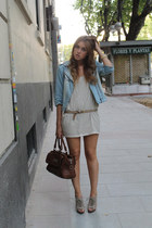 H&M dress - Zara jacket - Bimba & Lola bag - Mango heels - Michael Kors watch