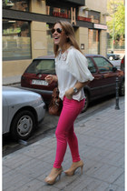 Queens Wardrobe blouse - Bimba & Lola bag - Zara heels - Zara pants