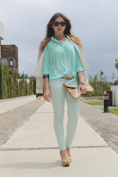 Queens Wardrobe blouse - BLANCO bag - Zara pants - Zara heels