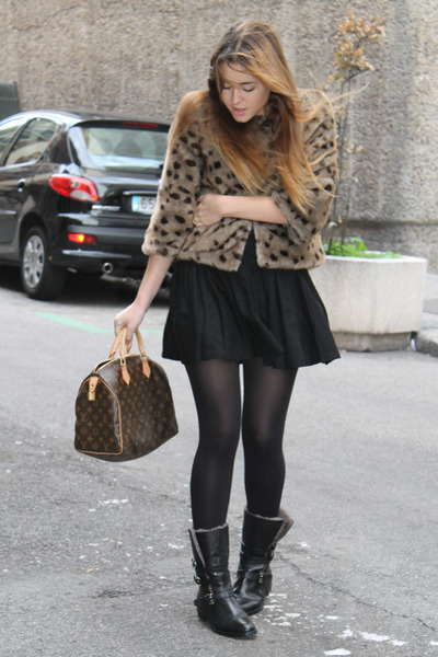Louis Vuitton bag - Uterque boots - Queens Wardrobe jacket - H&M skirt