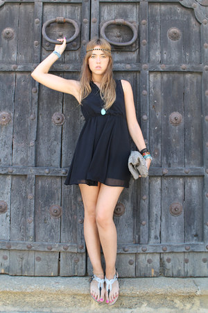 H&amp;M dress - Zara bag - Zara sandals - Primark accessories