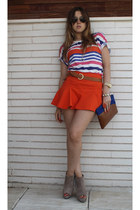 Zara skirt - Zara top - Zara wedges