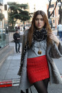 Zara-bag-mango-boots-uterqe-coat-uterqe-necklace-zara-top-blanco-skirt