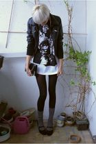 New Yorker jacket - from daddy shirt - Calzedonia tights - vintage purse - H&amp;M s