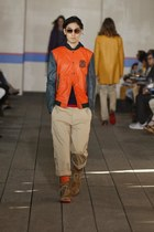 Orange &quot;Varsity&quot; Jacket
