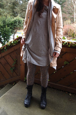 Ebay boots - H&amp;M tights - acne t-shirt - BikBok jacket - H&amp;M jacket