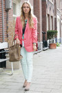 Salmon-stella-mccartney-blazer-camel-celine-purse-aquamarine-marni-t-shirt