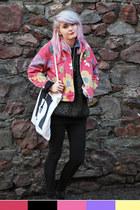 floral Gap coat - glitter vintage jumper
