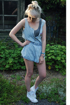 denim vintage bodysuit