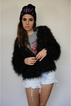 Club Kid Vintage 90s Cropped Fuzzy Sweater
