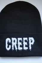 Black and White Creep Beanie