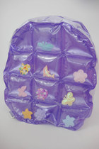 Vintage 90s Super Kawaii Pastel Inflatable Mini Backpack - Purple