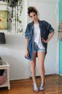 Blue-bongo-shorts-navy-dkny-blouse-white-long-beach-tank-free-people-top