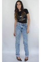 Vintage 90s High-Waisted Distressed Acid Wash Levi's Jeans -- Size 27