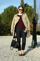 Burberry coat - acne jeans - APC sweater - Zara shirt - ray-ban sunglasses