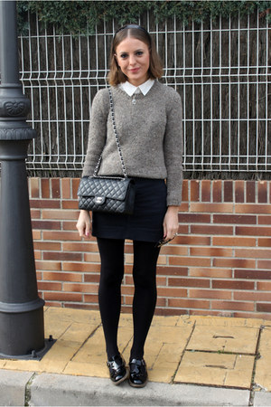 Chanel bag - Mango sweater - American Apparel skirt - Topshop flats