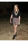 Acne-boots-miu-miu-bag-tan-free-people-shorts-black-acne-top-vintage-nec