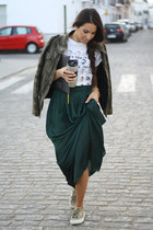 Zara jacket - za skirt - Superga sneakers - Diesel t-shirt