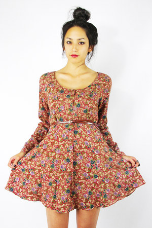 brick red Trashy Vintage dress