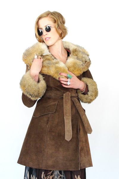 dark brown fox fur Trashy Vintage coat