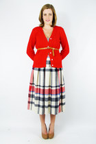 Red-red-cable-knit-trashy-vintage-cardigan