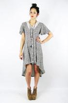 black floral fishtail Trashy Vintage dress